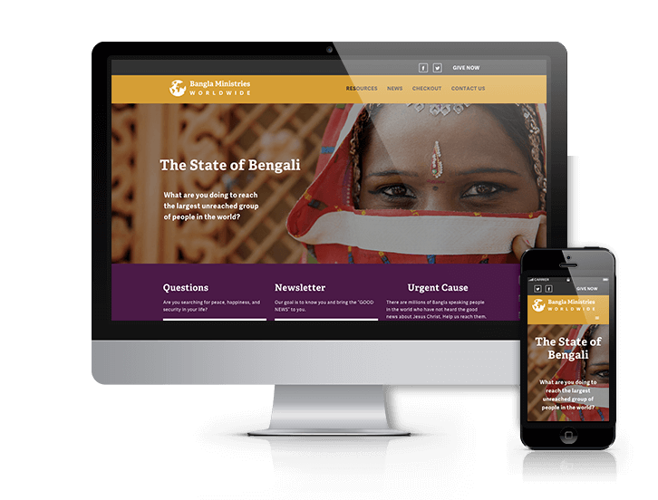 wordpress website, after redesign, denver, bangla ministries, mission, organization, nonprofit website design,