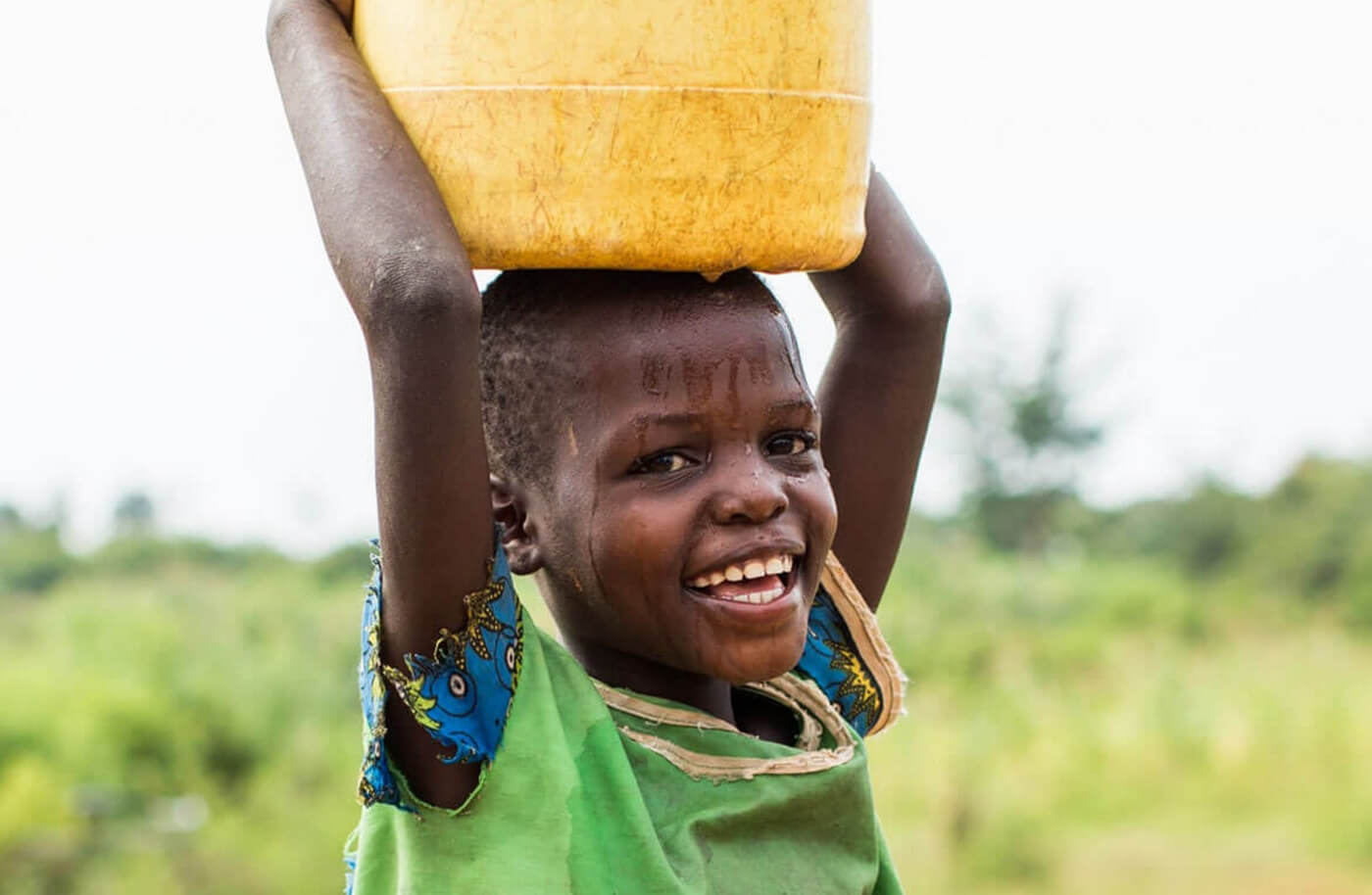 powerful imagery nonprofit website charity water