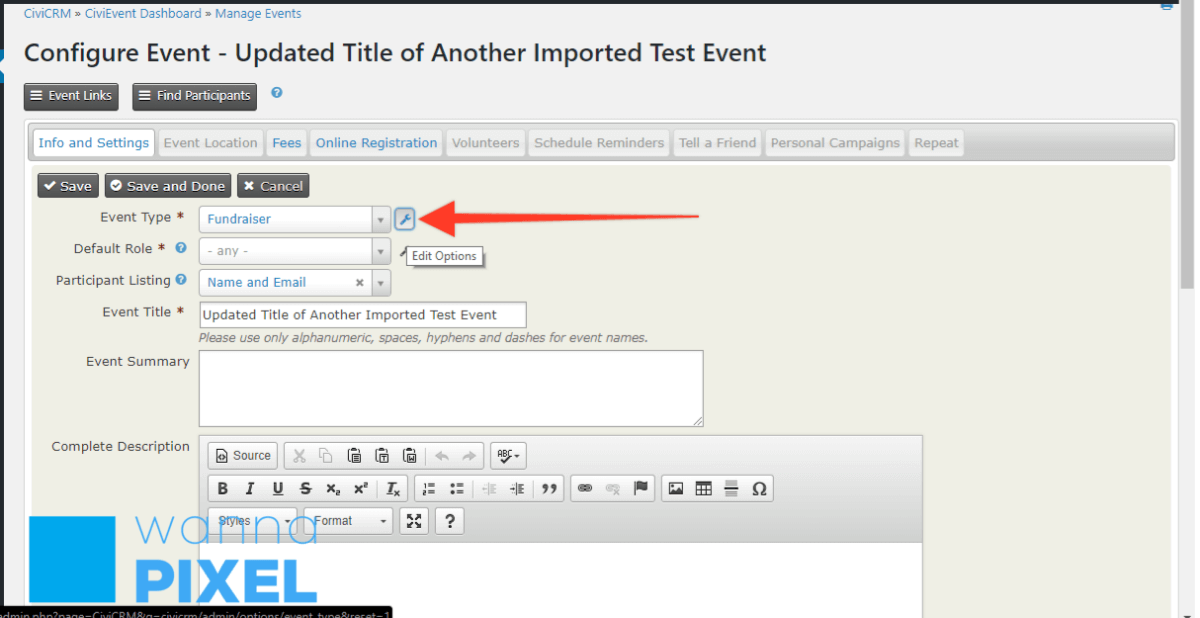 Look up your existing event types in CiviCRM