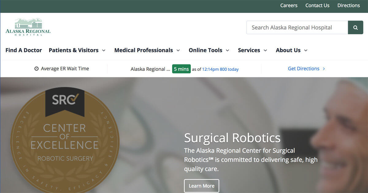 Alaska Regional Hospital Website Design