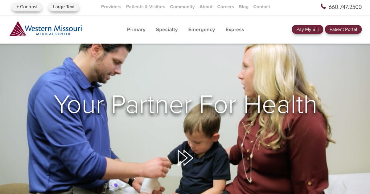 Website Design for Western Missouri Medical Center