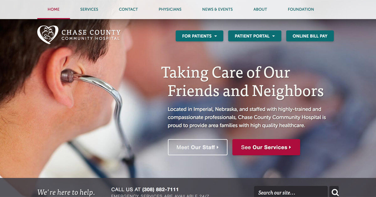 Website Design for Chase County Hospital