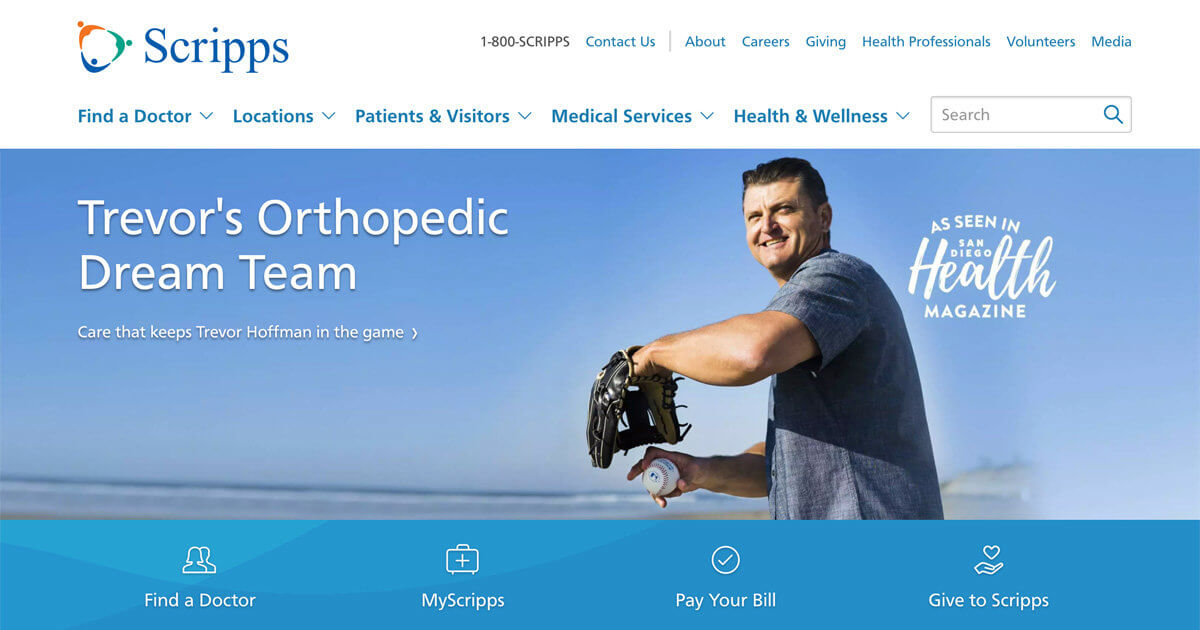 Scripps Website Design
