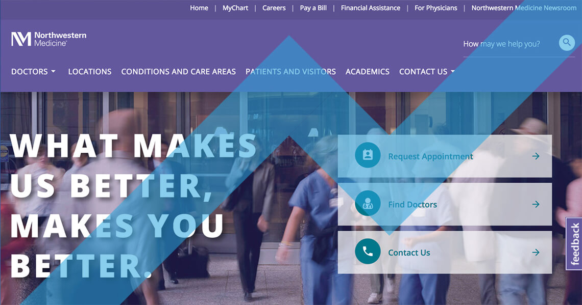 Website Design for Northwestern Medicine