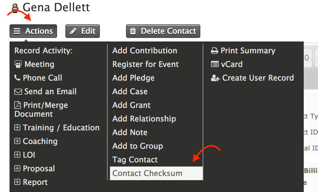 New CiviCRM Extension Contact Checksum